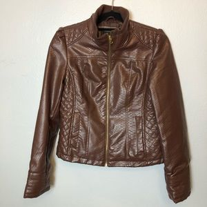 Faux Leather Brown jacket Size M